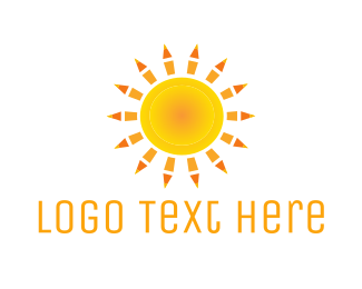 Notebook - Sun Pencils  logo design