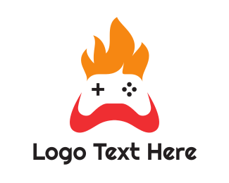 Game Community - Fire Console Controller logo design