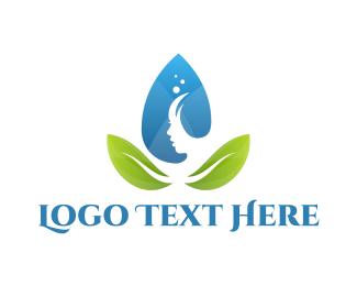 Dermatologist - Water Leaf Spa logo design