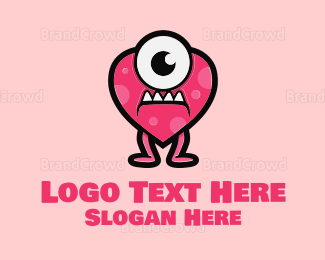 Startup - Heart Monster logo design