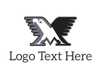 Hunt - Eagle M logo design