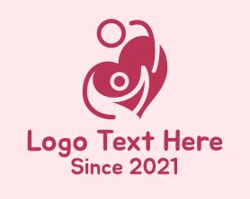 Date - Lovely Couple Heart logo design