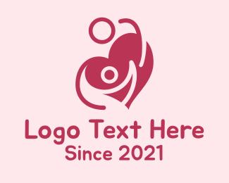 Cardio - Lovely Couple Heart logo design