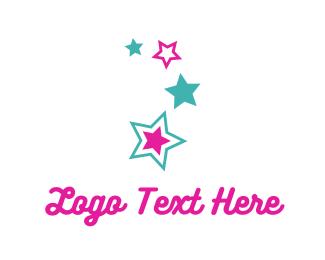 Astronomy - Pink Stars logo design
