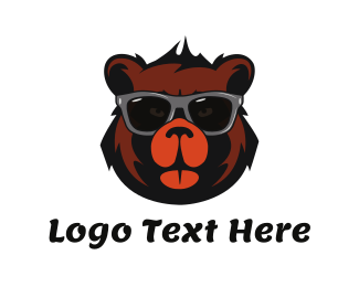 Stag Party - Cool Bear Face logo design