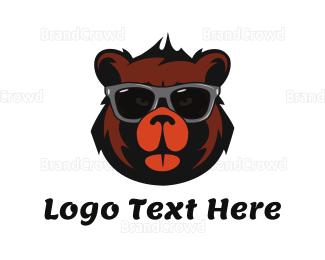 Chill - Cool Bear Face logo design