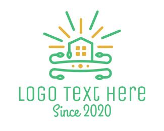 Ray - Shine Real Estate House logo design