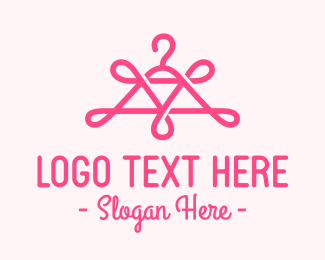 Trendy - Pink Swirly Hanger logo design