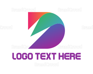 Feather - Abstract Letter D logo design