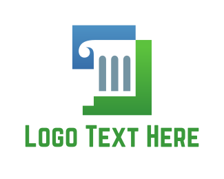 Column - White Column logo design