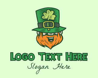 Saint Patrick - Lucky Irish St Patrick Leprechaun logo design