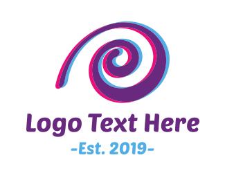 Slow - Purple Snail logo design