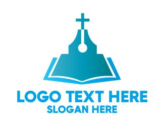 Religious - Blue Religious Book logo design