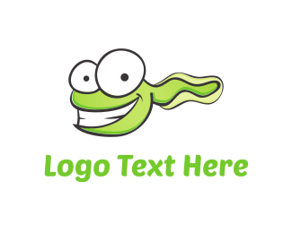 Snake - Green Tadpole Cartoon logo design