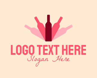 Booze - Bottle Shadow logo design