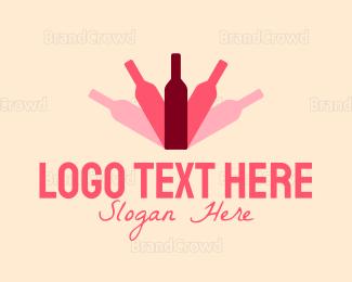 Alcohol Delivery - Bottle Shadow logo design