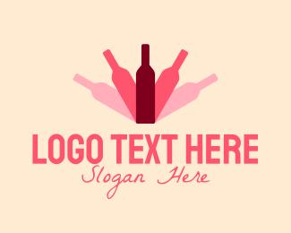 Grape - Bottle Shadow logo design