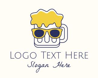 Specs - Fancy Beer Mug Mascot logo design