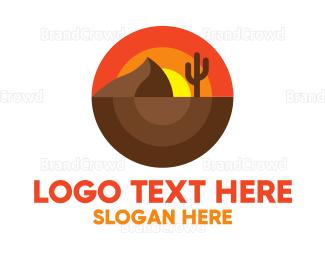 Countryside - Modern Rounded Desert  logo design