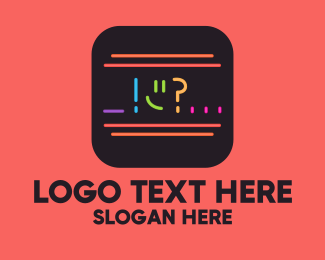 Question - Neon Chat Reaction App logo design