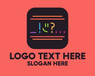 Question - Neon Chat Reaction App logo design