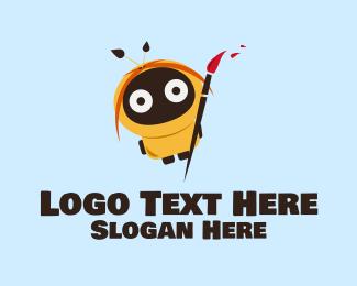 Mascot - Robot Hood Artist logo design