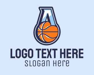 University - Letter A Basketball logo design