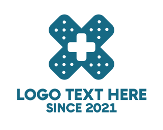 Pharmaceutics - Medical Cross Bandage  logo design