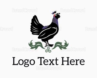 King - Black Rooster King logo design