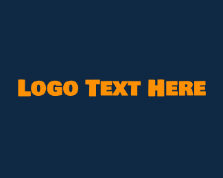 Typography - Strong Yellow Text logo design