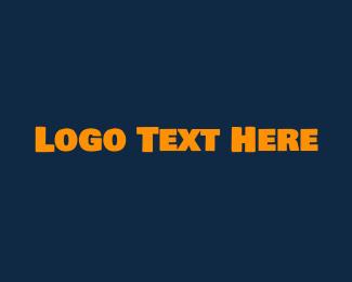 Uppercase - Strong Yellow Text logo design