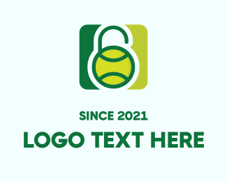 Tennis Ball - Tennis Safety Lock logo design