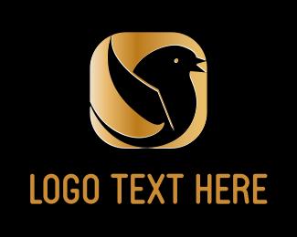 Tweet - Golden Bird logo design