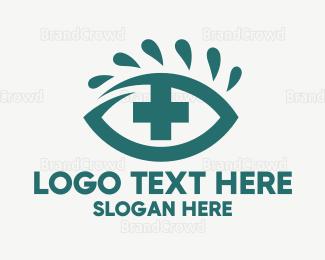 Hospital - Red Eye Cross logo design