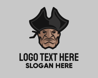 Angry - Angry Pirate Head logo design