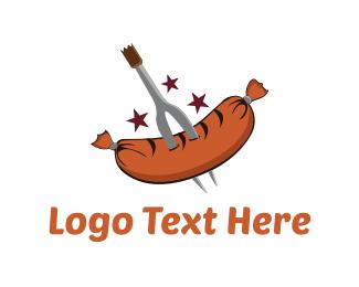 Diner - Grilled Sausage logo design