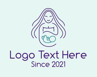 Pregnancy - Maternity Mother logo design
