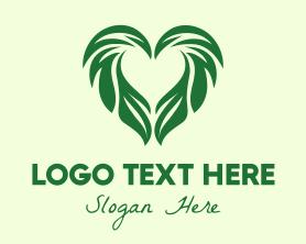Handmade - Leaf Heart logo design