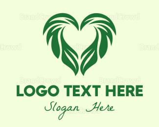 Organic Food - Leaf Heart logo design