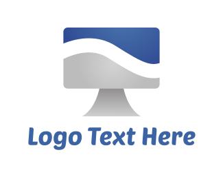 Monitor - Monitor Wave logo design