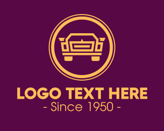 Vintage - Golden Classic Vintage Car logo design