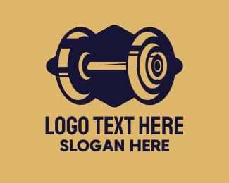 Gym - Gym Fitness Barbell logo design