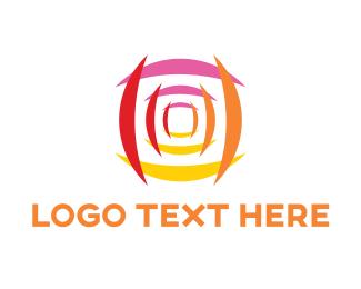 Youtube - Abstract Camera Lens logo design