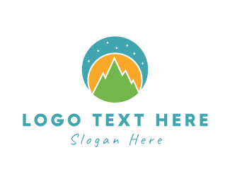 Sky - Night Landscape logo design