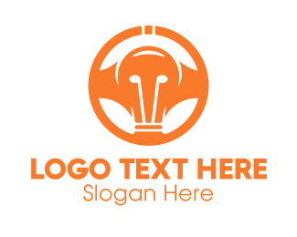 Wheel - Light Bulb Wheel logo design