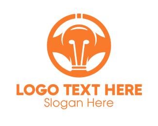 Wheel - Light Bulb Wheel logo design