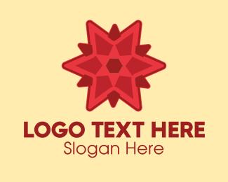 Festival - Festive Red Star  logo design