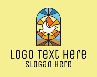Stained - Holy Dove Church Mosaic  logo design