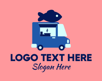 Food - Seafood Fish Food Truck logo design