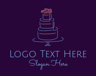 Wedding Cake Minimalist Logo